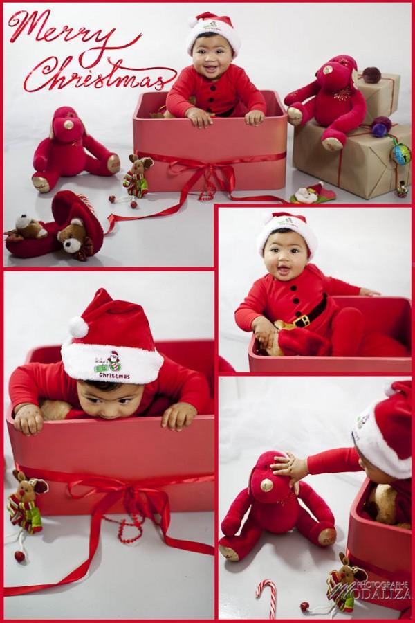 photo bébé noel christmas baby decoration rouge carte voeux by modaliza photographe-4
