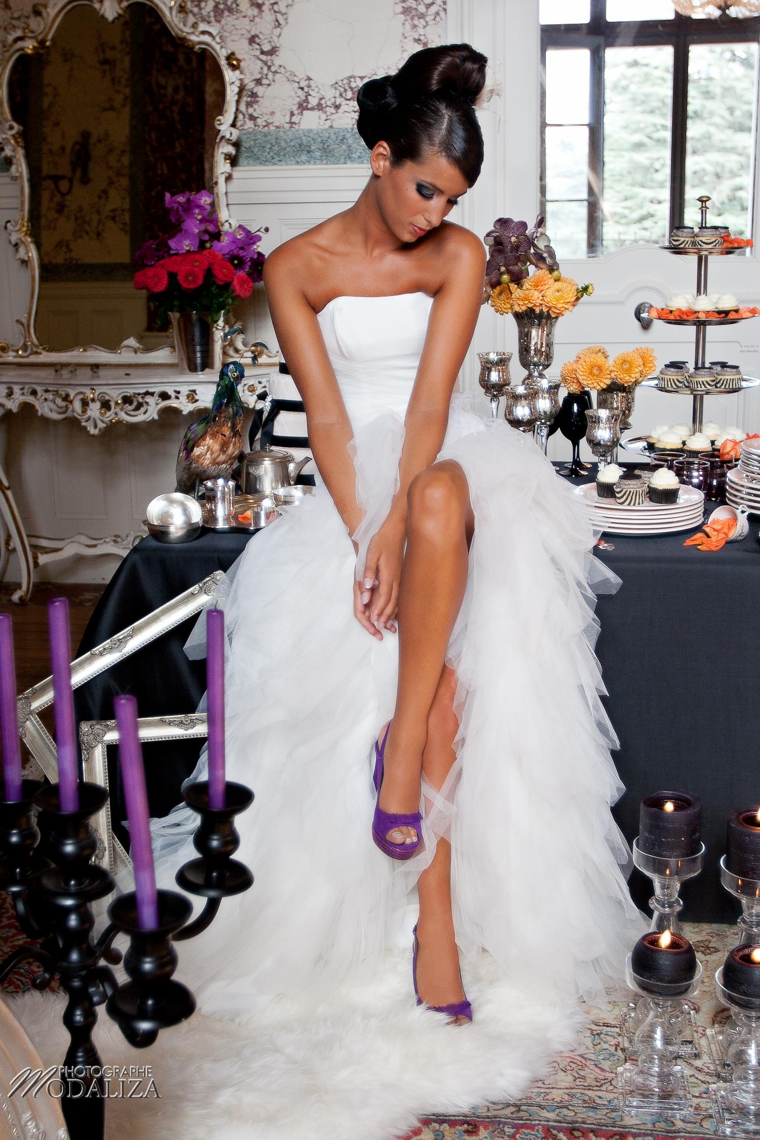 photo mode inspiration mariage decoration argent noir violet wedding bride mariée shoes chaussures baroque rock fashion chateau grenade castle gironde by modaliza-0901-2