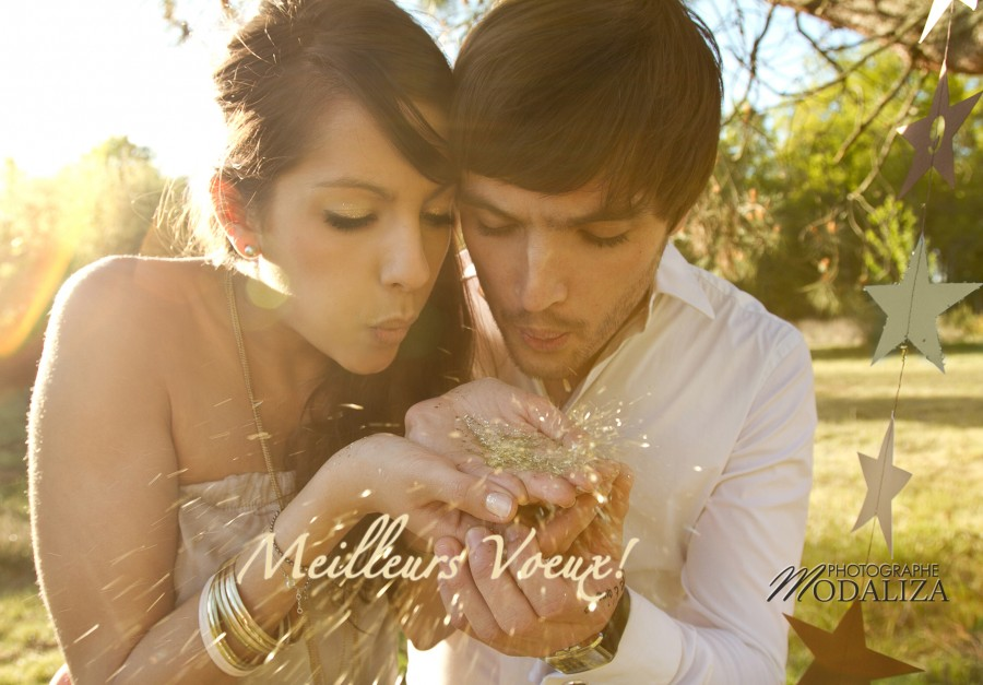 photo love session engagement couple amoureux fiancés lovers stars star gold étoile romantic poetic je t'aime kiss french france bordeaux gironde by modaliza photographe voeux new year