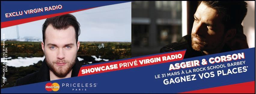 Places à gagner pour le Showcase Virgin radio