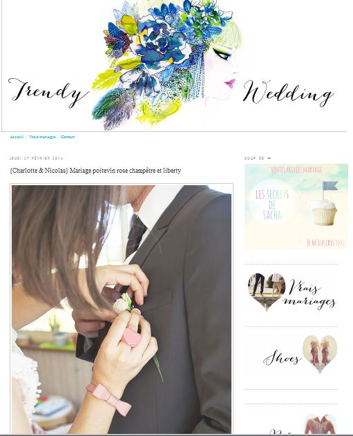 publication modaliza photographe sur trendy wedding blog