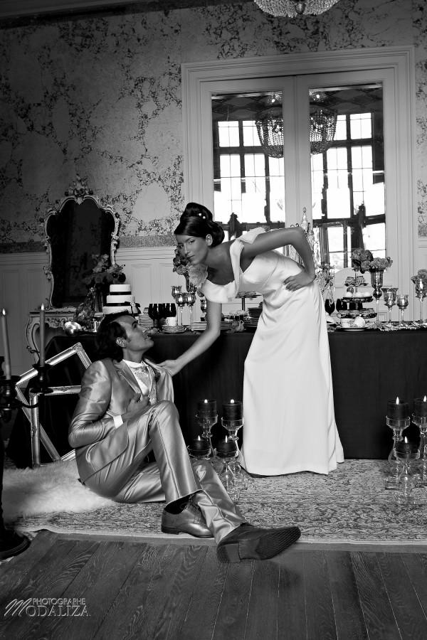 photo mode inspiration mariage decoration argent noir violet wedding bride mariée marié groom soumis baroque rock fashion chateau grenade castle gironde by modaliza-0605