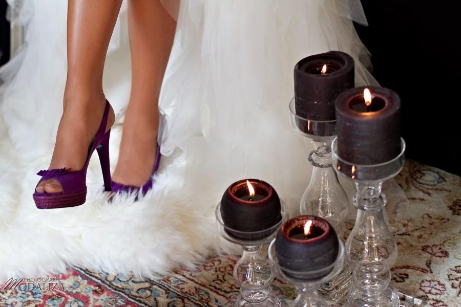 photo mode inspiration mariage decoration argent noir violet wedding bride mariée shoes chaussures baroque rock fashion chateau grenade castle gironde by modaliza-1480