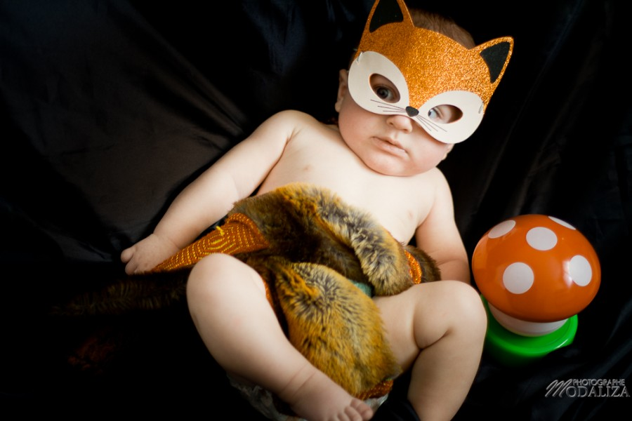 photo bébé baby boy enfant renard fox automne masque by modaliza photographe-11