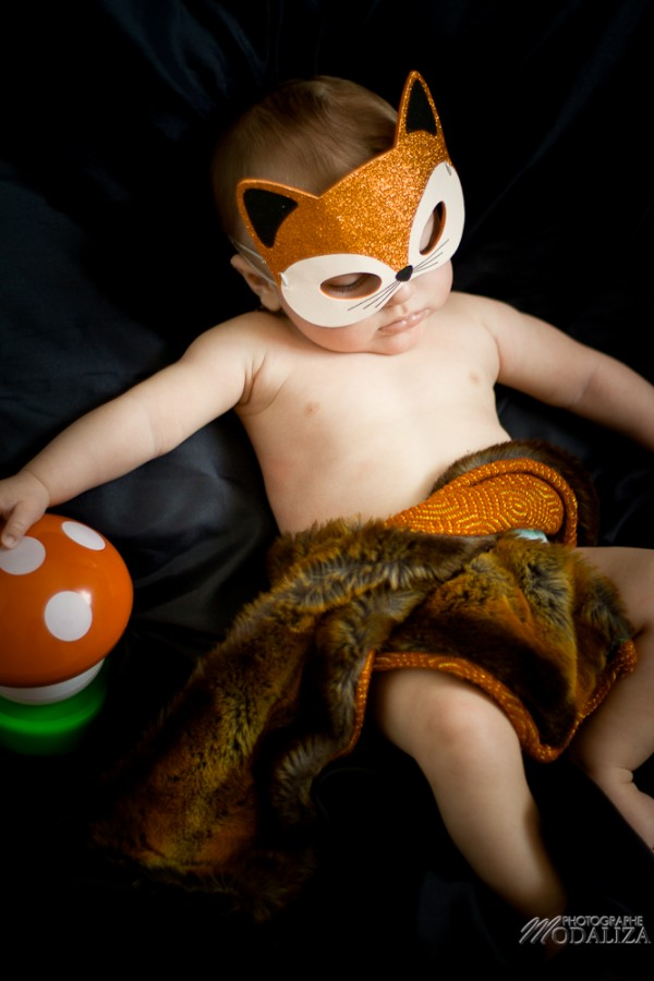 photo bébé baby boy enfant renard fox automne masque by modaliza photographe-6
