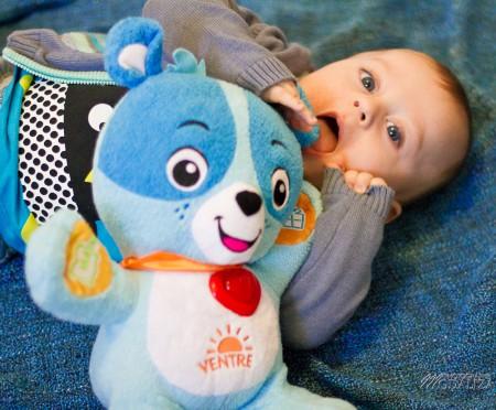 photo bébé ours nino vtech bleu baby boy blue eyes bordeaux merignac cadeau noel christmas by modaliza photographe-7