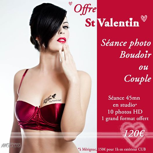 séance photo idee cadeau st valentin boudoir couple lingerie corset rouge by modaliza photographe