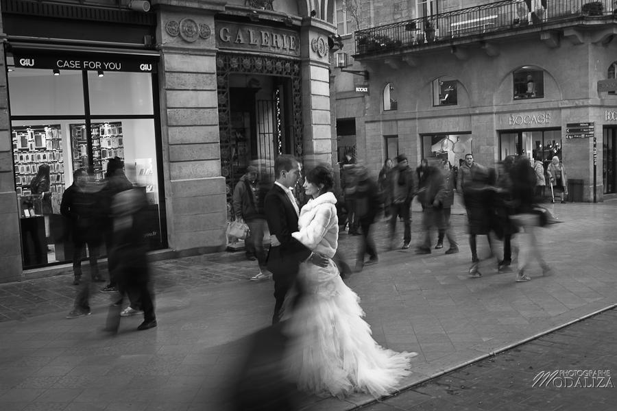 photo trash the dress day after mariés mariage couple lovers bordeaux city hiver manege by modaliza photographe-106