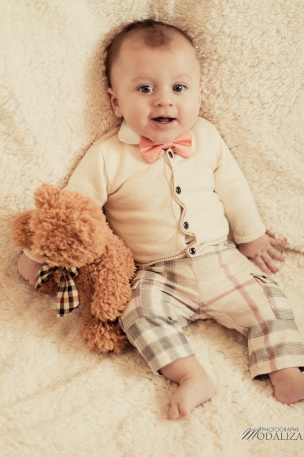 photo bébé fashion burberry baby boy ours bear pelucheby modaliza photographe-5