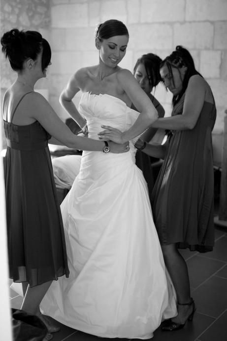 photo reportage mariage preparatif de la mariée témoins demoiselles d'honneur habillage by modaliza photographe
