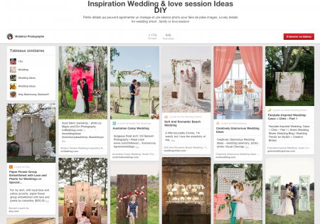 Pinterest modaliza photographe inspiration idées conseils mariage love session