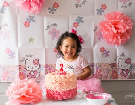 Cake smash Hello Kitty birthday