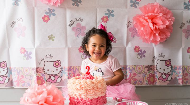 Cake smash Hello Kitty birthday