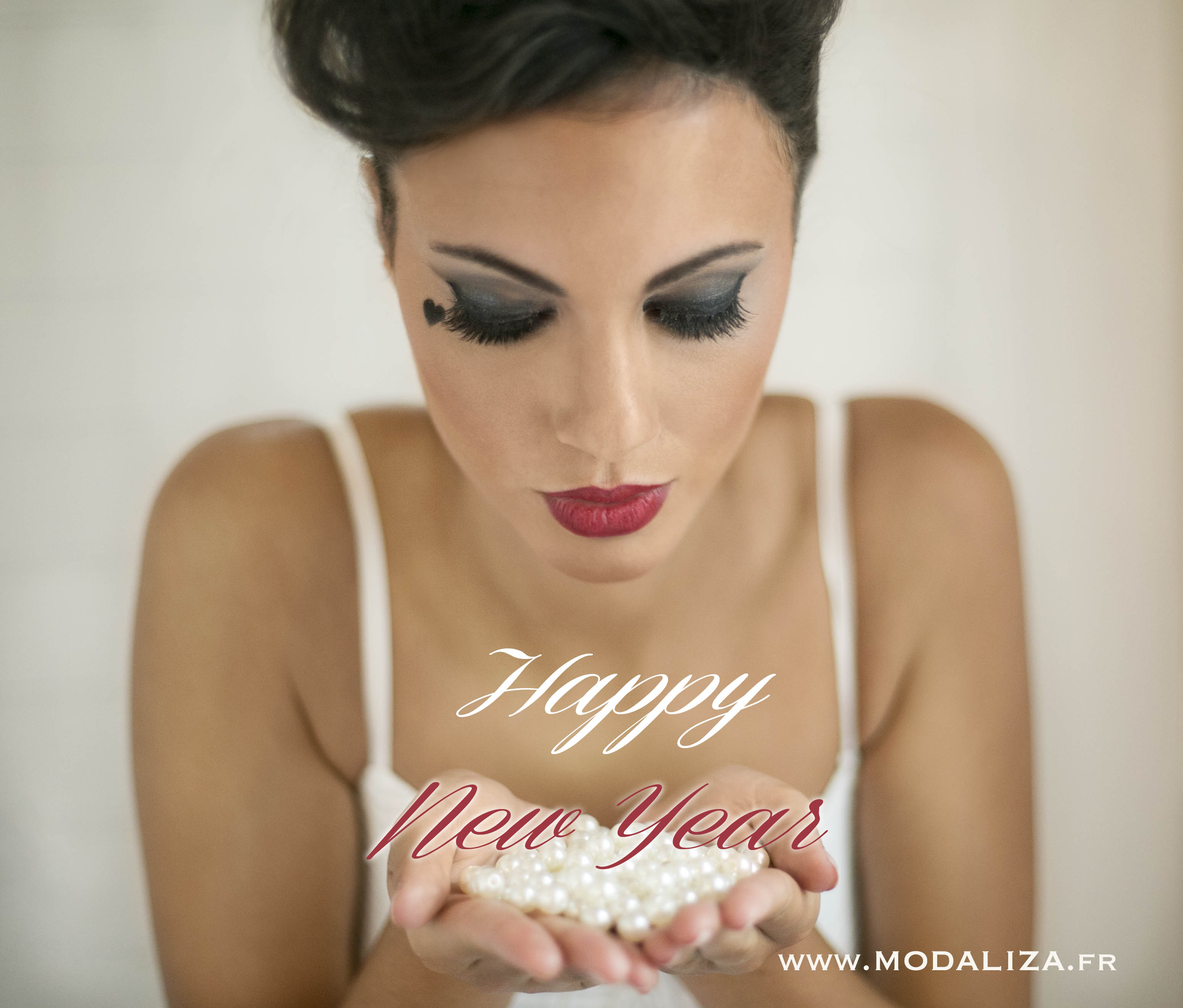 photo happy new year mariage wedding glamour rock chic pixie coiffure suany makeup beauty heart bride france by modaliza photographe