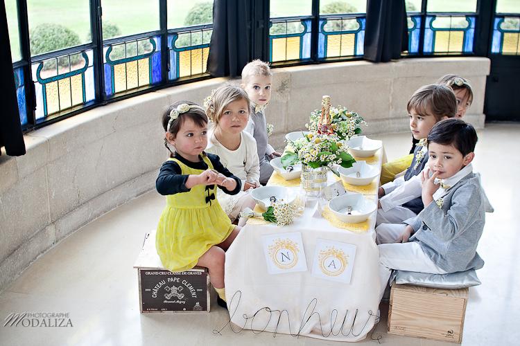 photo cérémonie enfants mariage jaune amour d'enfance little wedding yellow bordeaux chateau pape clement by modaliza -6294