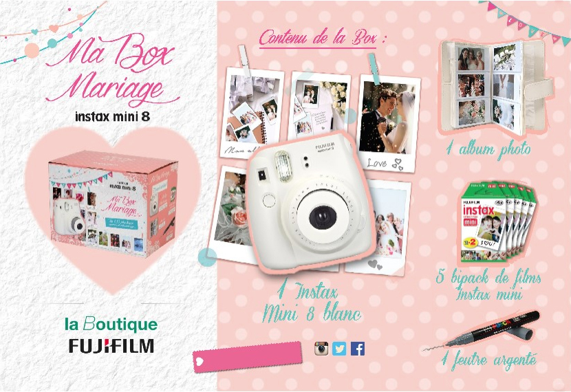 Box mariage instax & DIY photobooth