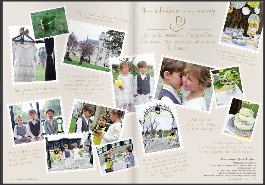 Inspiration mariage amour d enfance mini mariage pape clement mavilleamoi modaliza photographe