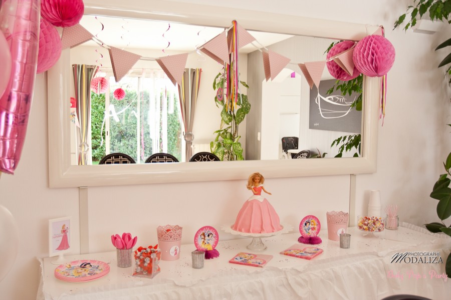 anniversaire petite fille princesse disney rose gateau barbie babypopsparty by modaliza photographe-6284