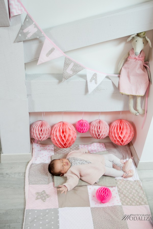 photo newborn baby girl love liberty girly corail pink lovely decor bebe bordeaux france by modaliza photographe-0066