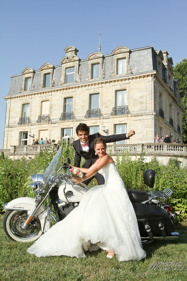 photo mariage chateau grattequina couple bordeaux moto harley by modaliza photographe-8