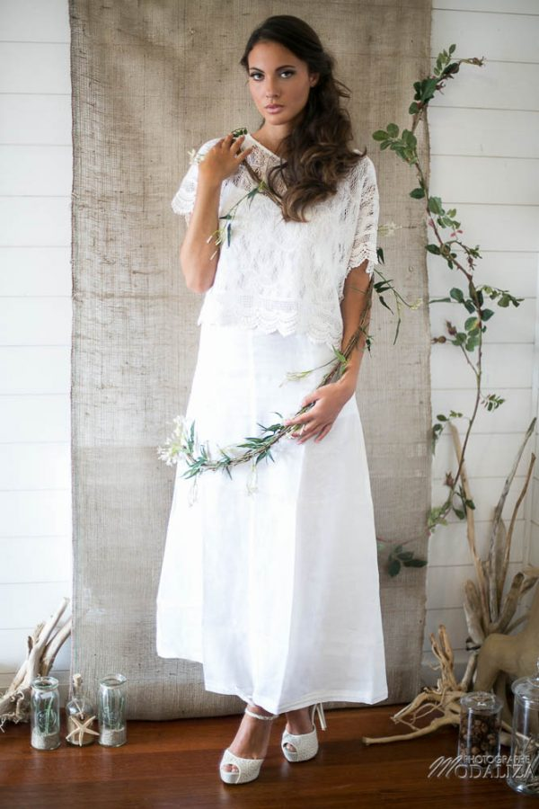 photo shooting inspiration mariage wedding nature dress lace boho chic dentelle natural etoile de mer bois wood suany makeup pixie coiffure bride to be france by modaliza photographe-5123