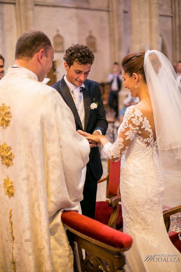 photo mariage wedding robe dentelle eglise church cathedrale bazas gironde by modaliza photographe-164