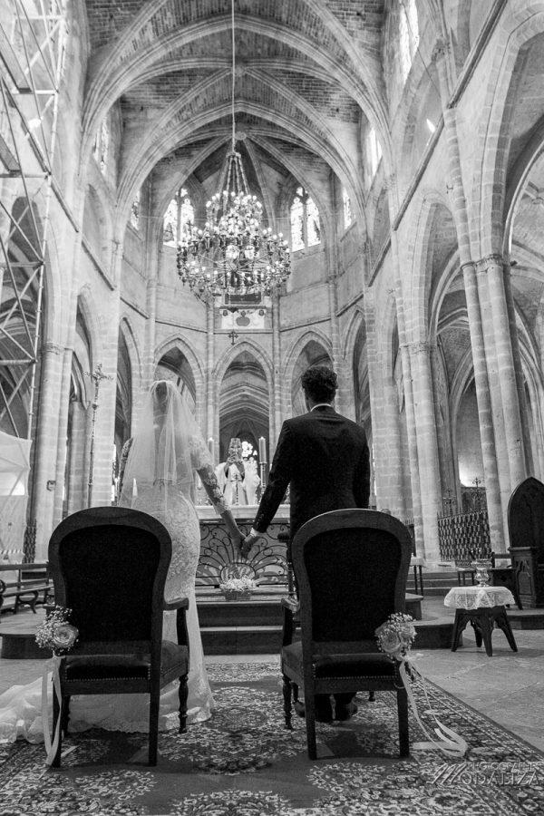 photo mariage wedding robe dentelle eglise church cathedrale bazas gironde by modaliza photographe-207