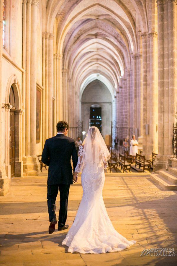 photo mariage wedding robe dentelle eglise church cathedrale bazas gironde by modaliza photographe-286