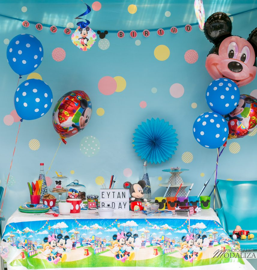 Inspiration anniversaire mickey diy mon blog modaliza photographe - Decoration mickey anniversaire ...