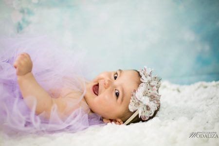 photo baby girl bebe flowers blue pink tutu maman douceur studio bordeaux by modaliza photographe (3 sur 7)