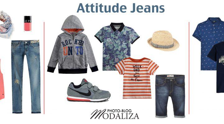 Attitude jeans look pour une famille assortie