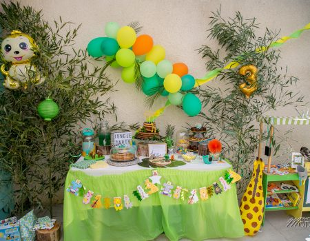 Anniversaire jungle party