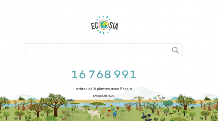 Moteur de recherche ecolo Ecosia