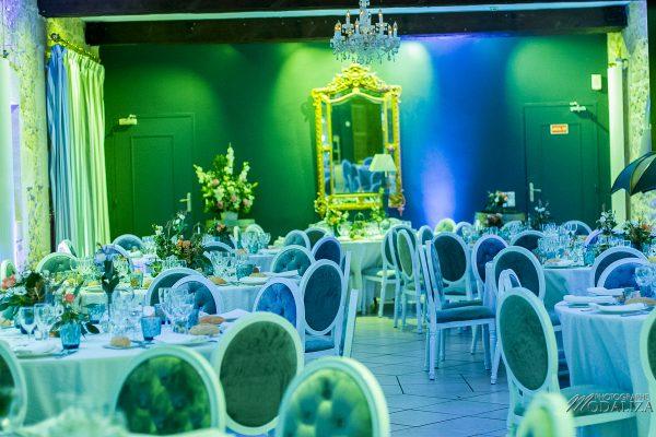 photo mariage domaine de valmont decoration bleu rose corail or table salle soiree gironde modaliza photographe-1610