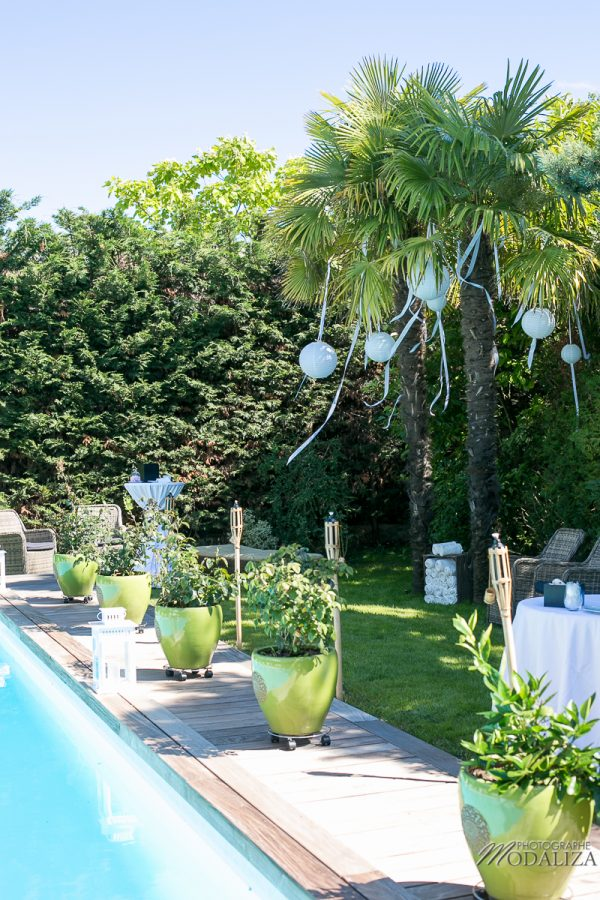 photo reportage mariage annees 50 wedding dress villa piscine pivoine rose garden party bassin d arcachon by modaliza photographe-6354