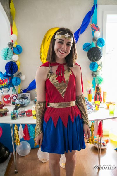 anniversaire super hero birthday inspiration wonder woman decoration animation by modaliza photo-7070