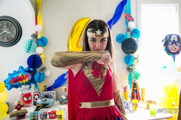 anniversaire super hero birthday inspiration wonder woman decoration animation by modaliza photo-7071