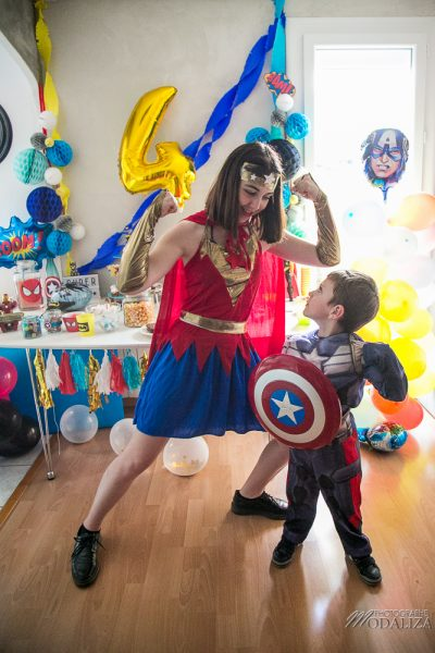 anniversaire super hero birthday inspiration wonder woman decoration animation by modaliza photo-7074