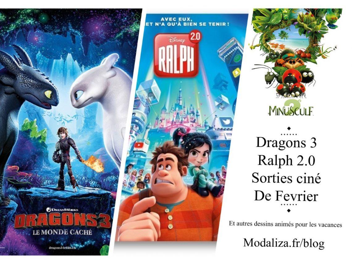 Dragons 3, Ralph 2.0 … Sorties cine aux vacances de fevrier