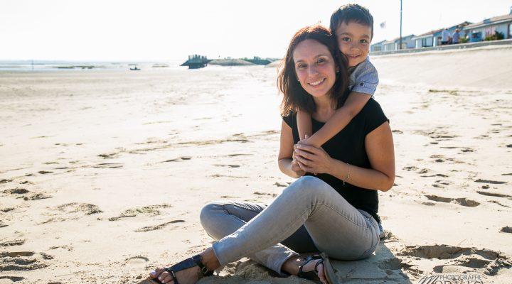 Séance photo famille Andernos – mere fils sur le Bassin d'arcachon