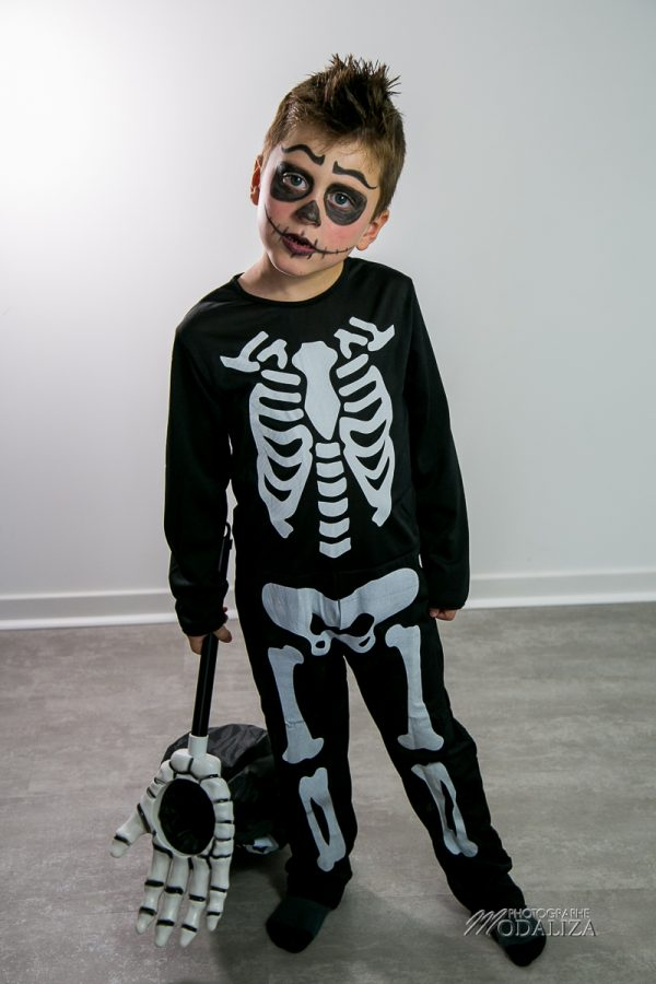 maquillage halloween deguisement enfant garcon facile squelette mort by modaliza photographe-6