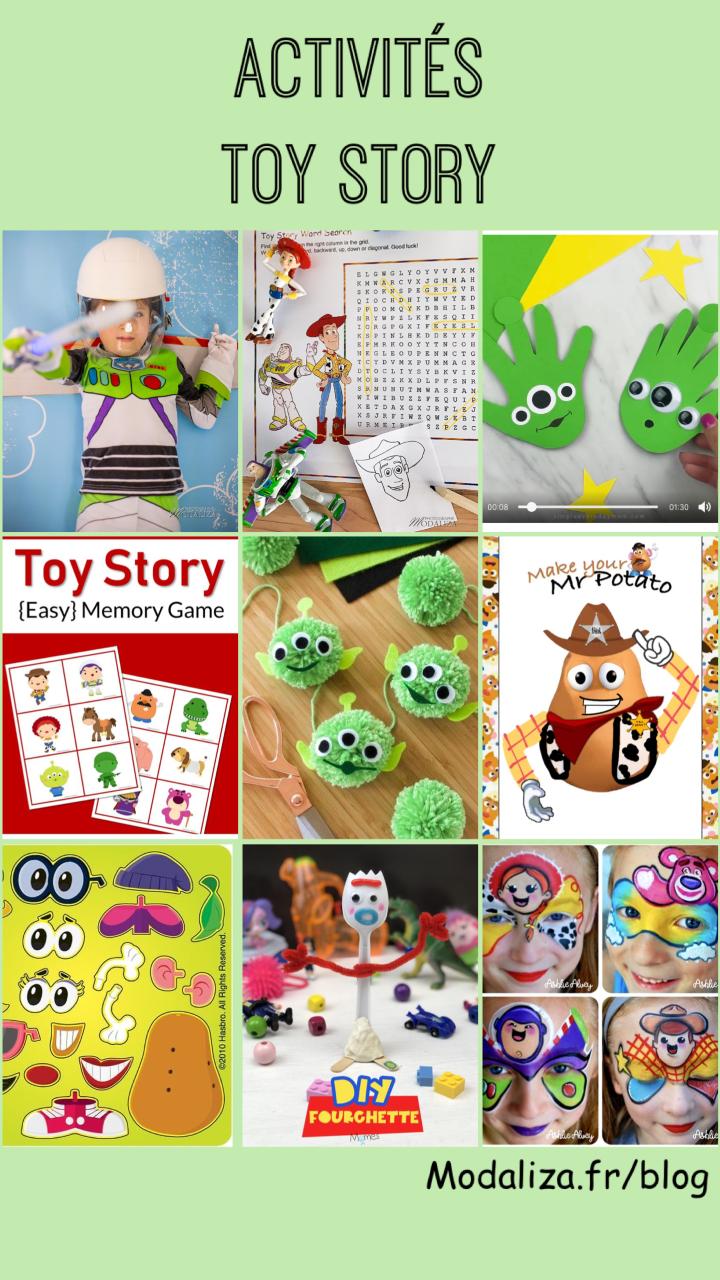 Activites toy story diy disney confinement occuper les enfants by modaliza photo blog