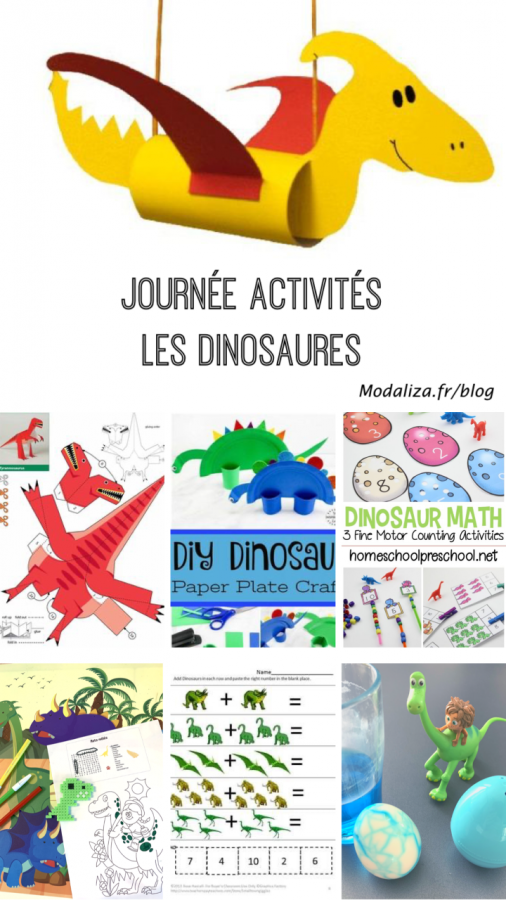 Journee activites les dinosaures confinement occuper les enfants by modaliza photo blog