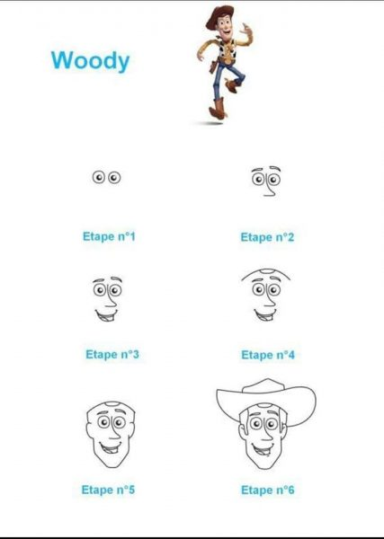 activite toy story dessiner woody confinement occuper les enfants by modaliza photo blog